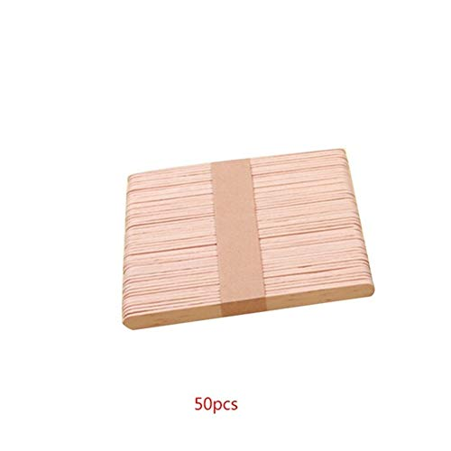 50PCS Wooden Coffee Tea Stirrers Mixers Craft Stick/Paddle Pop Sticks Disposable (Color : NO2)
