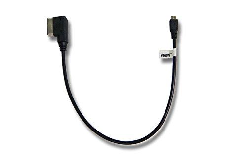 vhbw Audio Adapterkabel für Mercedes Benz S-Klasse M-Klasse R-Klasse E-Klasse C-Klasse CLS-Klasse (ab 2010) Media Interface (518) wie A0018279204.