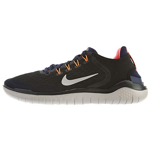 Nike Men's Air Free Run 2018 Running Shoe Black/Moon Particle-Blackened Blue 10.0