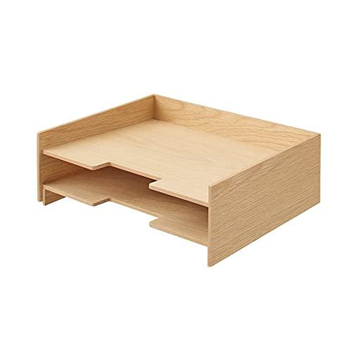 無印良品 木製書類整理トレー A4・2段 82603347