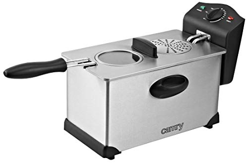 Camry CR4909 Friteuse, 3 liter, roestvrij staal, filter, 2000 W, grijs