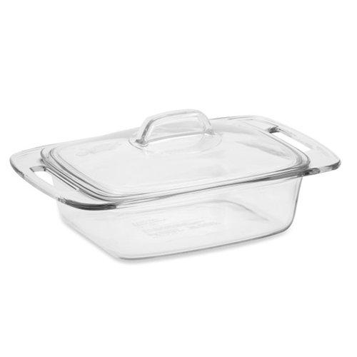 Pyrex Easy Grab Schmortopf mit Deckel, Glas, 2 l