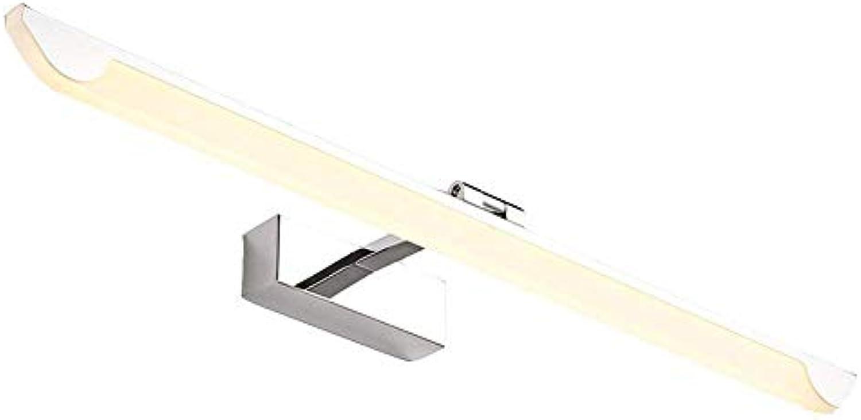 Mirror Lamps Home Spiegel Scheinwerfer Edelstahl LED Wasserdichte Schrank Licht Einfache Anti-rost und Anti-Fog Wandbehang Badezimmerspiegellampe Bad Lampe (Farbe   73cm(16w)warm Light)