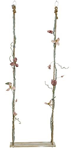 CHICCIE Sedia basculante con fiori, 140 cm, altalena decorativa