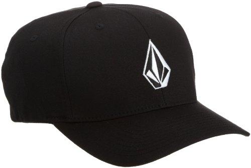 Volcom Men's Full Stone Xfit Flexfit Hat Black L/XL