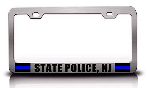 Custom Brother - State Police NJ Police Cop Metal Ch Car SUV Truck License Plate Frame u64