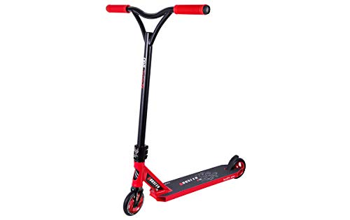 BESTIAL WOLF Booster B18, Scooter Pro, Manillar Negro y Tabla Color (Red)