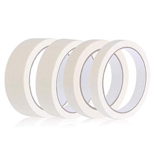 4 Rollen Masking Tape Aquarellmalerei Strukturiertes Papierband 10mm 15mm 20mm 25mm Klebeband für DIY Malen, Etikettieren, Dekorieren Basteln Verpackung