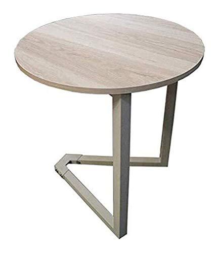 N/Z Wohngeräte Beistelltische Nordic Living Room Runder Esstisch Beistelltisch Couchtisch Einfacher moderner Verhandlungs-Doppelschicht-Beistelltisch aus Holz (Farbe: Schwarz)