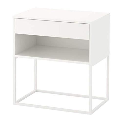 IKEA Vikhammer 303.889.81 - Mesita de noche (23 5/8 x 15 3/8 pulgadas), color blanco