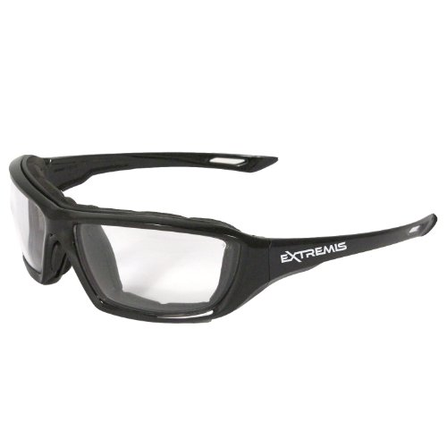 Lowest Prices! Radians XT1-11 Extremis Full Black Frame Safety Glasses with Clear Anti-Fog Lens