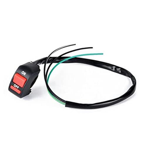 banapo 1 Pieza Interruptor de Motocicleta Manillar Universal Motocicleta Autobike Motor Bicicleta Soocter Autocycle Interruptor de luz de Peligro de accidente Encendido/Apagado B (Color : 3 Wire)