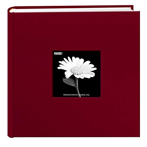 Fabric Frame Cover Photo Album 200 Pockets Hold 4x6 Photos, Champion Burgundy