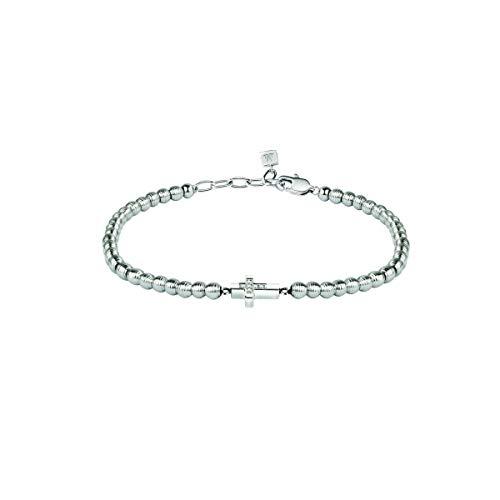 Morellato Bracciale da uomo, Collezione Mister, in acciaio, diamanti naturali selezionati h/i - SANF02