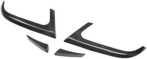 Siyse Adecuado para Mercedes-Benz CLA Clase C117 CLA180 CLA250 CLA45 AMG 2014 2015 Aletas traseras de Coche Fibra de Carbono CF Parachoques Labio Spoiler Divisor canards
