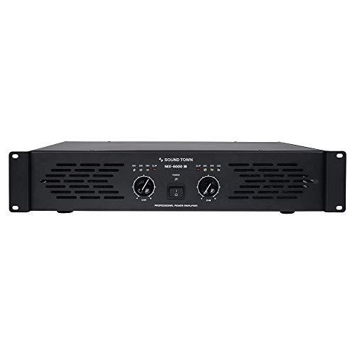 Sound Town Professional Dual-Channel, 2 x 1500W at 4-ohm, 6000W Peak Output Power Amplifier (NIX-6000IB)