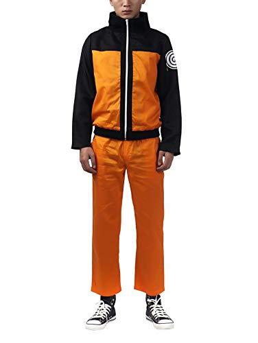 Ilovcomic Naruto Cosplay Uzumaki Naruto Orange Costume 2nd Ver Outfit - Disfraz para Hombre - Naranja - X-Small