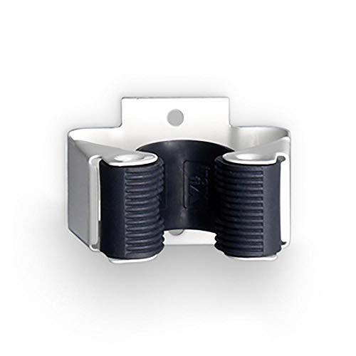 INOFIX Cuelga Escobas, Metal, Blanco, 5 cm