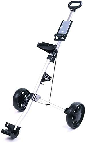 YLLN 2 Wheel Push Pull Golf Cart, Collapsible Cart, One Second to Open and Close Folding Cart, Lightweight Golf Carts, with Score Board