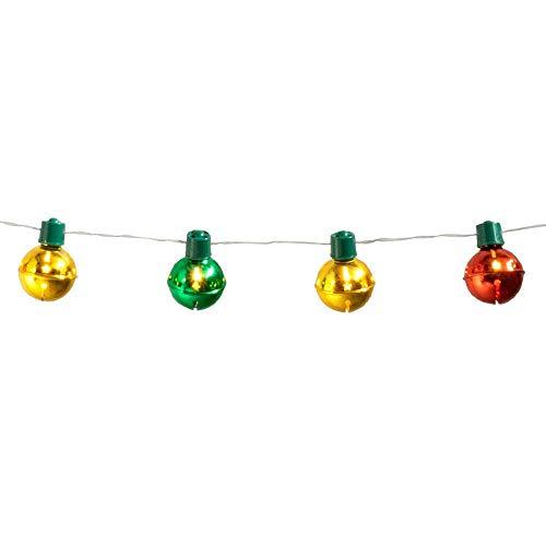 Boland 13447 - LED-Lichterkette Weihnachtsglocken, Länge 140 cm, Batterietyp 2xAA, Dekoration, Karneval, Mottoparty, Weihnachten
