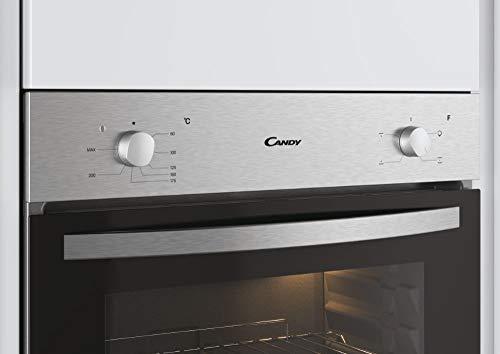 Candy - FCS100X/E - Horno eléctrico - 2100W, Capacidad 70L, Puerta desmontable de doble cristal con efecto espejo, Inox, Clase A