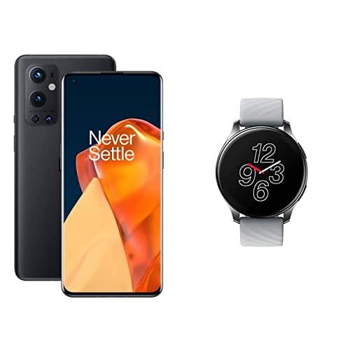 OnePlus 9 Pro 5G Smartphone con cámara Hasselblad para móvil - Stellar Black 8GB de RAM + 128GB, sin SIM + Reloj Inteligente Bluetooth 5.0 + Resistencia al Agua IP68 - Moonlight Silver