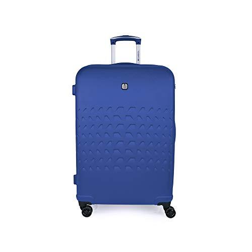Gabol - Duke | Maleta de Viaje Grande Dura de 51 x 76 x 28 cm con Capacidad para 90 L de Color Azul