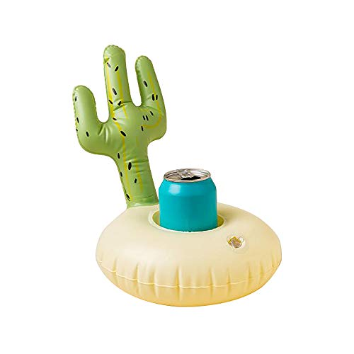 Preis am Stiel Aufblasbarer Getränkehalter ''Kaktus'' | Getränkehalter aufblasbar | Pool - Party Zubehör | Geschenkidee für Freunde | Badespielzeug | Getränke Dosenhalter | Aufblasbarer Kaktus