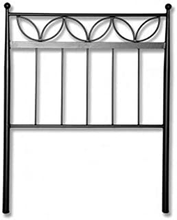 Hogares con Estilo - Cabecero de Hierro Forjado artesanalmente en España. para Cama de 120 cms Modelo LUCÍA Color Negro