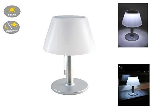 LED-Solar-Tisch-Garten-Leuchte-Lampe JOLLA Zugschalter, drei Helligkeits-Stufen Solar-Balkon-Terrasse-Treppen-Gartentisch-Camping-Party-Leuchte-Lampe