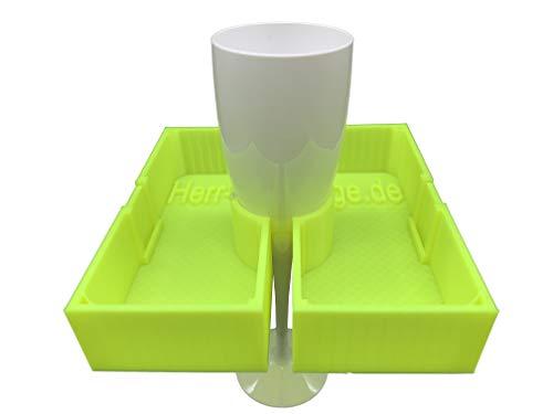 eXODA Getränkehalter Pool Sekthalter Weinglas Sektglashalter Weinglashalter Badewanne (Neon)