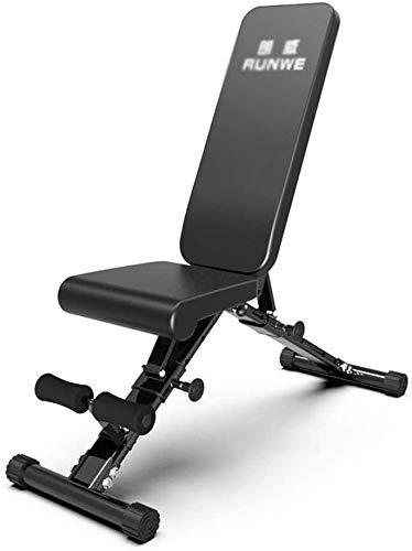 AINH Peso ajustable Bench Inicio Entrenamiento en gimnasio levantamiento de pesas, Banco de ejercicio Utilidad ajustable, entrenamiento Benchs plegable Bench press inclinado banco de ejercicio gimnasi