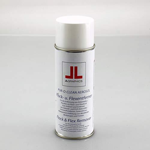 JUNG-LENZ GRAPHICS e.K. Flexentferner/Flockentferner Spray 400ml Folien Entferner Flock- & Flexentferner