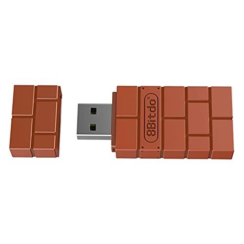 B Blesiya Adaptador de Receptor Inalámbrico USB para Switch Controller, para Usar con PS5 / 4/3, para Wii Mote, para Wii U Pro de Forma Inalámbrica para Switch. - Vino Rojo