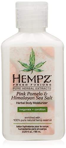 Hempz Fresh Fusions Pink Pomelo and Himalayan Sea Salt Mini Moisturizer, 2.25 Ounce