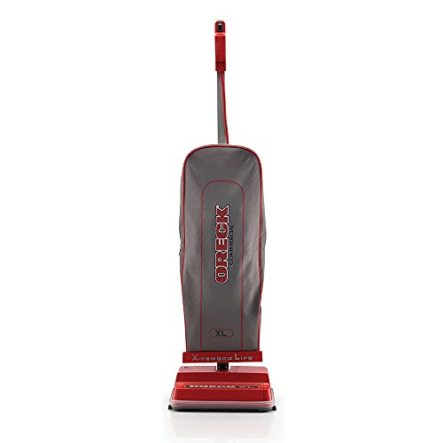 Oreck Commercial Upright Vacuum Cleaner, Bagged Professional Pro Grade Lightweight, 9 Pounds 40-Foot Long Cord, U2000R-1, Gray/Red