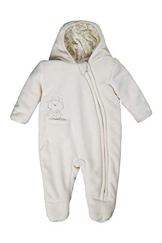 Kanz Unisex Baby Fleeceoverall m. Kapuze Schneeanzug, Elfenbein (snow white white 1050), 68