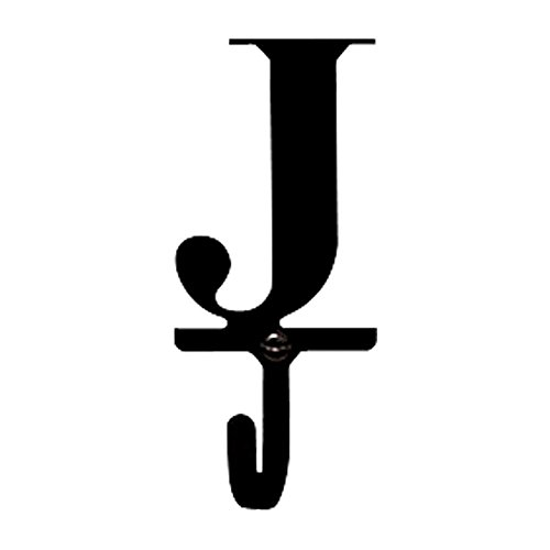 Village Wrought Iron Letter J Wall Hook - Small