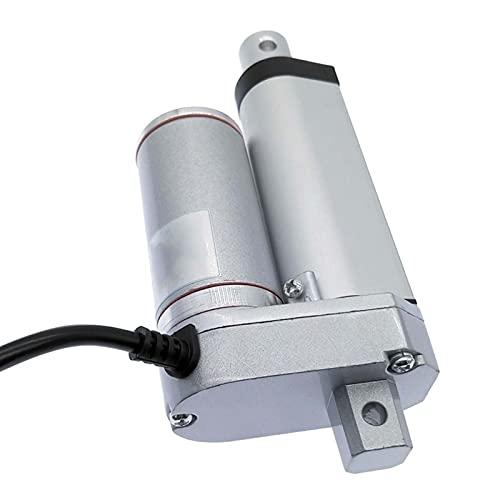 Leloo Lcuihong-Lineal Eléctrico Actuador Lineal 50 mm 30 mm 20 mm, Motor eléctrico DC 12V, Stroke 24V abrelatas de Ventanas Speed(RPM) : 12V 750N 10mm s, Voltage(V) : Stroke 20mm