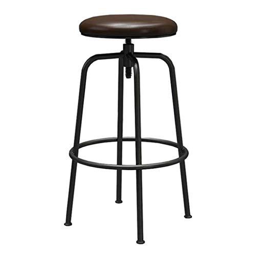 NYDZ Industrial Vintage Bar Stool ergonomia del sedile con il poggiapiedi for la casa Bianca colazione ripiano della cucina e, legno Sgabelli Impostare regolabile girevole di gas dell'elevatore, for l