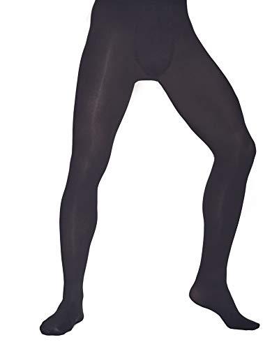 Mens Opaque Everyday Footed Tights ROCKY 60 Denier Aurellie Black M/L