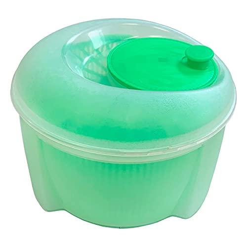 Acan Centrifugadora de Ensalada 4,5 litros de plástico, Modelo Diana, escurridor, Secadora Manual para Lechuga y Verduras, Mecanismo de Giro en la Tapa, 25 x 16 cm, Color Aleatorio