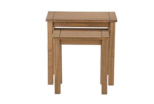 Birlea Santiago Nest Of Tables - Solid Pine, Waxed Pine