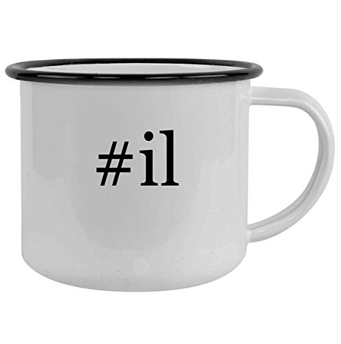 #il - 12oz Hashtag Camping Mug Stainless Steel, Black
