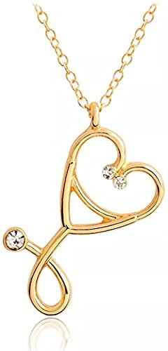 Collar Collar De Moda Collar Colgante Collar De Estetoscopio Corazón Colgante De Estetoscopio Con Collar De Diamantes De Imitación Regalo De Graduación De Enfermera Para Mujeres Niñas Regalos De Fiest
