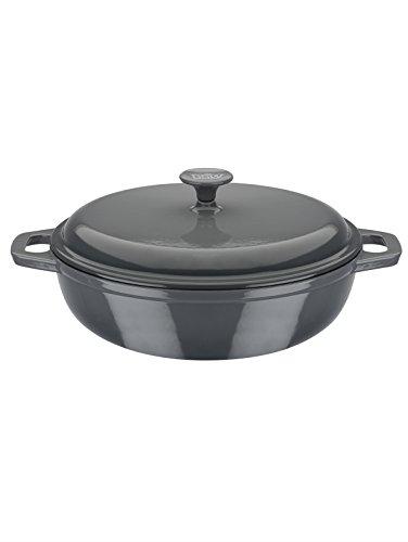 GSW Stahlwaren GmbH - Olla de Cocina, Hierro Fundido, Gris, 30 x...