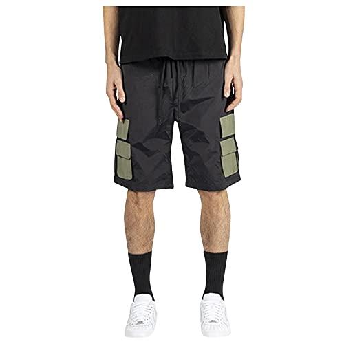 DeaAmyGline Kurze Hose Herren Cargo Shorts mit Gummizug Caprihose Sommer Sport Shorts Männer Sweatshorts Jogginghose Laufshorts Sportshorts Wandershorts Radhose