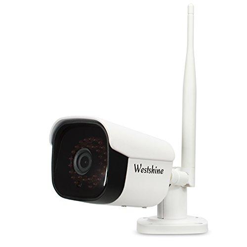 Westshine draadloze beveiliging IP-camera, HD 1080P H.265 wifi IP-camera, bewegingsdetectie Alarmopname netwerkcamera, ingebouwde microfoon, waterdichte bewakingscamera voor thuis voor buiten