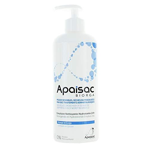 Apaisac Biorga Emulsión Limpiadora Hidratante 24H 400 ml - Piel Sensible