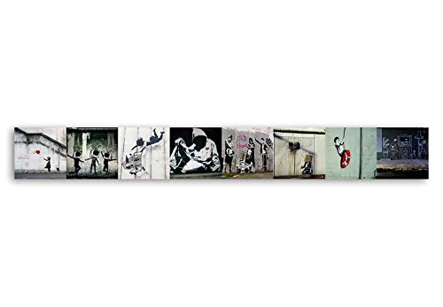 murando Deko Panel XXL 400x50 cm Vlies Tapete Poster Panoramabilder Riesen Wandbilder Dekoration Design Fototapete Wandtapete Wanddeko Wandposter Banksy 11070905-69